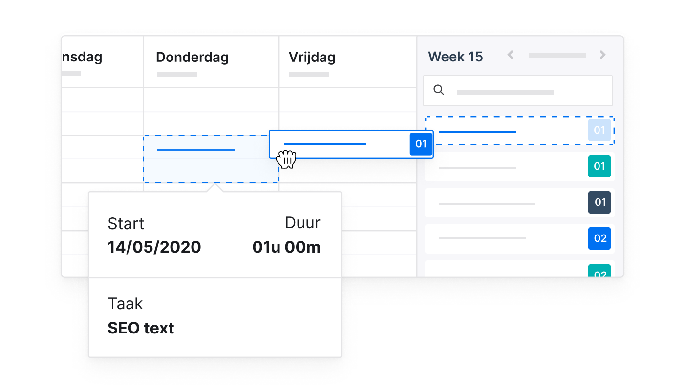 BE NL 3 1 Time Tracking Snel geregistreerd