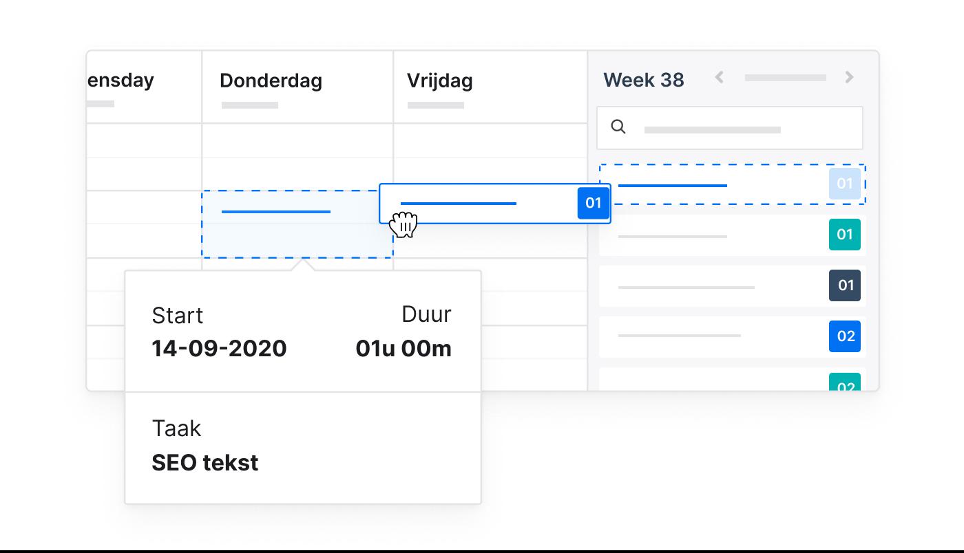 NL NL 3 1 Time Tracking Snel geregistreerd